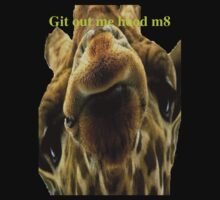 Git Out Me Hood m8 Giraffe by Squidcase