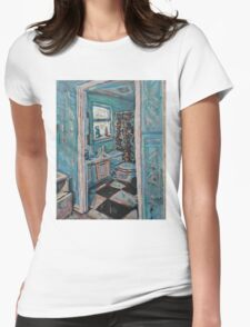 Bathroom Womens Fitted T-Shirt