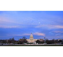 United States Capitol in Evening Photographic Print