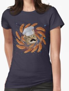 Chef Cat Womens Fitted T-Shirt