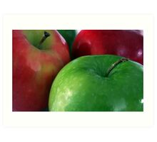 Apples Red & Green Art Print