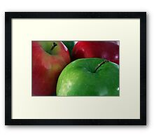 Apples Red & Green Framed Print