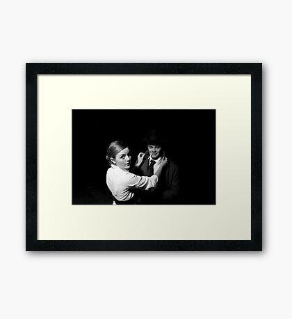 Black Intention Framed Print