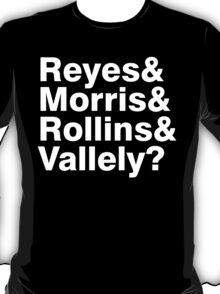 Black Flag vocals list ampersand shirt T-Shirt
