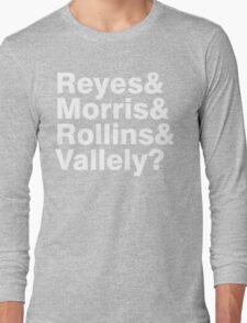 Black Flag vocals list ampersand shirt Long Sleeve T-Shirt