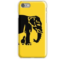 Caution Elephants Crossing ⚠ Thai Road Sign ⚠ iPhone Case/Skin