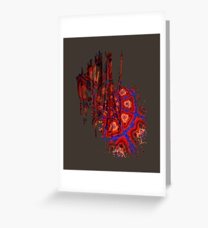 Spiral Crash Greeting Card