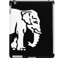 Caution White Elephant Crossing ⚠ Thai Road Sign ⚠ iPad Case/Skin