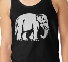 Caution White Elephant Crossing ⚠ Thai Road Sign ⚠ Tank Top