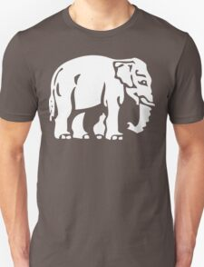 Caution White Elephant Crossing ⚠ Thai Road Sign ⚠ T-Shirt