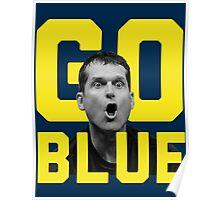 Jim Harbaugh GO BLUE Poster