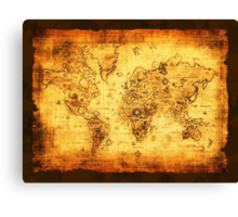Vintage Old World Map Canvas Print