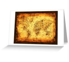 Vintage Old World Map Greeting Card