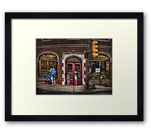 The Italian Bakery Framed Print