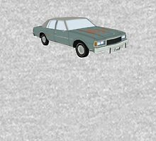 Hand Drawn Vintage Chevy Caprice 1980s Sedan Unisex T-Shirt