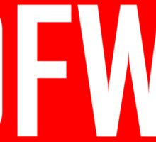 IDFWU - Red and White Sticker