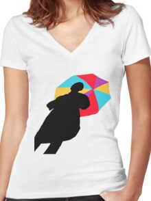 Shadow Umbrella Women's Fitted V-Neck T-Shirt