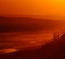 Red Sunset,13Th Beach,Bellarine Peninsula by Joe Mortelliti