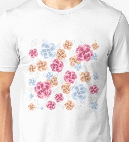 Beautiful Colourful Carnations Unisex T-Shirt