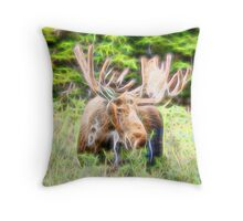 Moose Glow  Throw Pillow