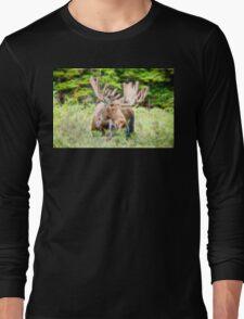 Moose Glow  Long Sleeve T-Shirt