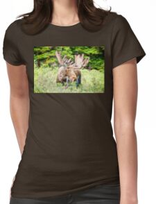 Moose Glow  Womens Fitted T-Shirt