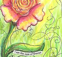 I Am A Rose Of Sharon For Phone Case by gretchenann