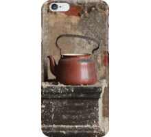 old teapot in an abandoned house iPhone Case/Skin