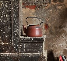 old teapot in an abandoned house by mrivserg