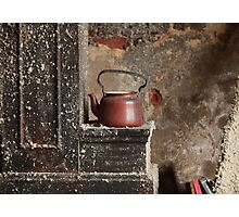 old teapot in an abandoned house Photographic Print