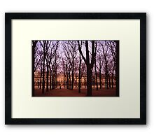 Winter walk Jardin de Tuiliers, Paris (Dry Brush watercolour effect) Framed Print