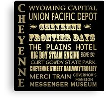 Cheyenne Wyoming Famous Landmarks Canvas Print