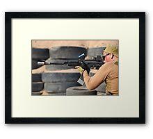 Kalashnikov large caliber Framed Print