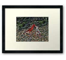 Caring Couple Framed Print