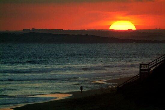 Last Surf,13Th Beach,Bellarine Peninsula by Joe Mortelliti