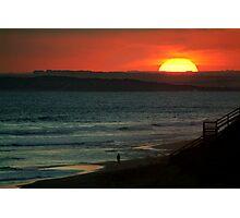 Last Surf,13Th Beach,Bellarine Peninsula Photographic Print