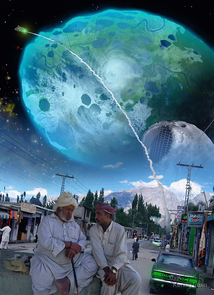 The New Abbottabad ایبٹ آباد Cluster of Terraformed Asteroids by Kenny Irwin