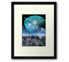 The New Abbottabad ایبٹ آباد Cluster of Terraformed Asteroids Framed Print