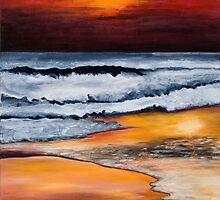 Sunset on Sand by spuddy