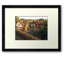 Aylesford High Street from Cage Hill Framed Print