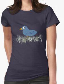 Paranoid Bluebird Womens Fitted T-Shirt