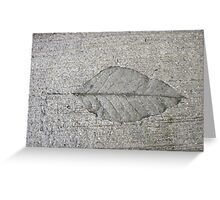 Sidewalk Art by Leaf Greeting Card