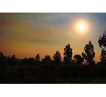 yarra valley sunset Photographic Print