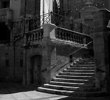 Vittoriosa Church Steps by Anthony Vella
