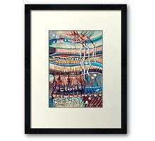 Palm Contractions Framed Print