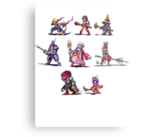Final Fantasy 9 Characters Metal Print