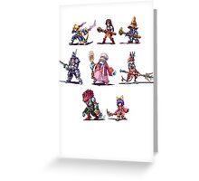Final Fantasy 9 Characters Greeting Card