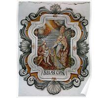 St. Blaise Church, Calenzana, Corsica Poster