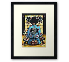 Asia Blue Framed Print