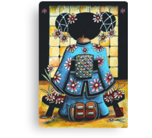 Asia Blue Canvas Print